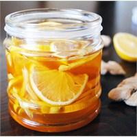 Zencefil, Limon Ve Bal Şurubu