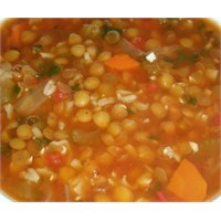Mercimekli Pirinç Çorbası