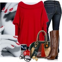 Kırmızı Kıyafet Kombin Modelleri 2014