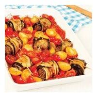 Domatesli Ve Köfteli Patlıcan Ruloları