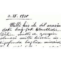 Atatürk' Ün El Yazısı Font Oldu