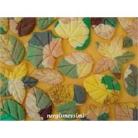 Sonbahar Yaprağı Kurabiye