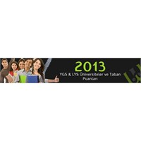 2013 Ygs & Lys Üniversiteler Ve Taban Puanları