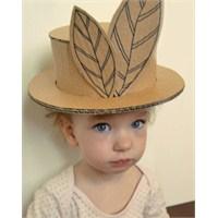 Kartondan, Çocuklarınızla Oyun Şapkası Yapabilirsi