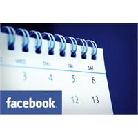 Facebook'a Takvim Geliyor