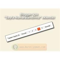 Blogger İçin Sayfa Numaralandırma Eklentisi