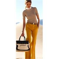 Safran Sarı Pantolon