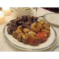 Zeytinyağlı Kuru Patlıcan Ve Biber Dolması -Çiğden