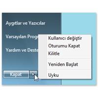Windows Güç Düğmesi Seçenekleri