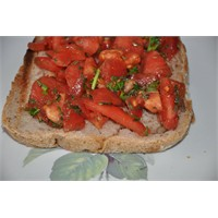 Bruschetta (Sarımsaklı İtalyan Ekmeği )