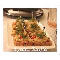 Tahinli Patlican Salatali Kanepe