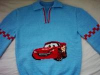 Süper Mc Qween Araba Desenli Çocuk Kazağı Modeller