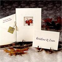 Sonbaharda Evleneceklere Düğün Davetiyesi Örnekler
