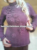 Şık Lila Kazak Modeli