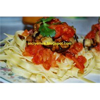 Patlıcanlı Tagliatelle