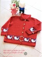 Hello Kitty li Çocuk Hırka Modeli Yapılışı