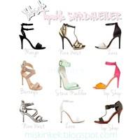 Sahip Olunası Yüksek Topuk Sandaletler