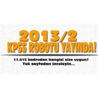 Kpss 2013/2 Tercih Robotu
