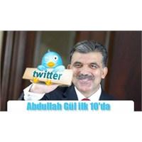 Abdullah Gül, Twitter'da Dünya 8'incisi