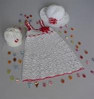 Yazlık Bebek Elbise Şapka Takımı
