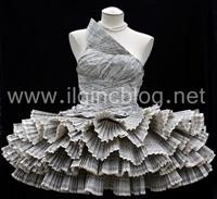 Kağıt İle Yapılan Elbise