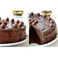 Kakaolu Pandispanya İle Çikolatalı Pasta Tarifi