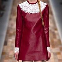 Dantel Yakalar Ve Valentino Kış Modelleri