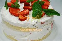 Çilekli Kağıt Helva Pastası