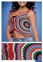 Yazlık Askılı Renkli Bluz Modeli