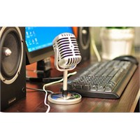 Vintage Karoke Radyo Mikrofonu