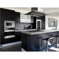 Siyah Renkli Ankastre Mutfak Modelleri
