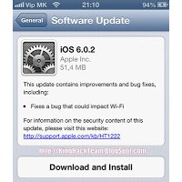 Apple İos 6.0.2 Güncellemesini Duyurdu!