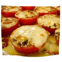 Fırında peynirli domates