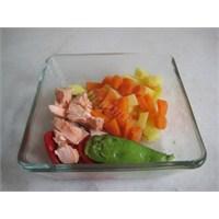 Sebzeli Somon Balığı Püresi
