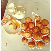 Tarçınlı, Havuçlu, Portakallı Cupcake