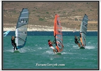 Rüzgarı İle Meşhur Alaçatı da Sörf