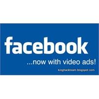 Facebook' A Videolu Reklamlar Geliyor!