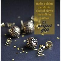 Kendin Yap: Altın Rengi Disko Topları Ve Kolye Ucu