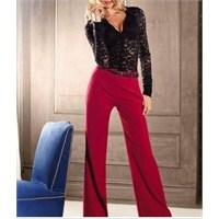 2013 Bayan İspanyol Paça Kumaş Pantolon Modelleri
