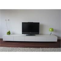 Minimalist Beyaz Tv Sehpaları