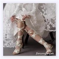 2014 Dantelli Gelin Ayakkabısı Modelleri