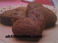 Çikolatalı Kalp Kurabiyeler