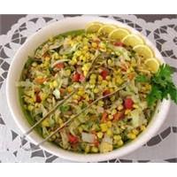 Lezzetli Mısırlı Makarna Salatası