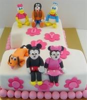 Miki Ve Arkadaşları 1 Yaş Pastası