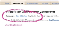 Blogger Domain Yönlendirmesi