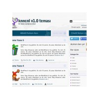 Knncnl - Wordpress Kişisel Blog Teması (Ücretsiz)