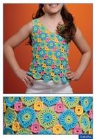 Rengarenk Motifli Askılı Kız Çocuk Bluzu Yapımı