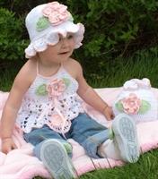 Örme Bebek Elbisesi Kız Bebekler İçin Güzel Model