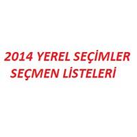 2014 Yerel Seçimler Ve Seçmen Listeleri