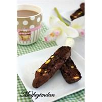 Cikolatalı Antep Fıstıklı Biscotti (Glutensiz)